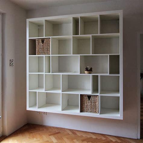 Wall Mounted Bookcase Ikea by Ikea Kallax Hack Search Lounge Ideas