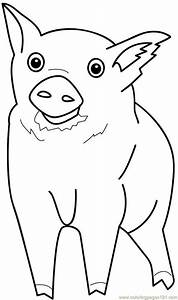 Free coloring pages of pig head mask