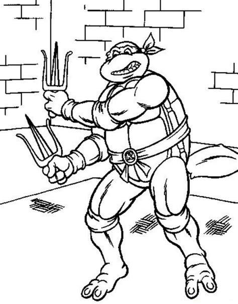 Dibujos de las tortugas Ninja para colorear imprimir