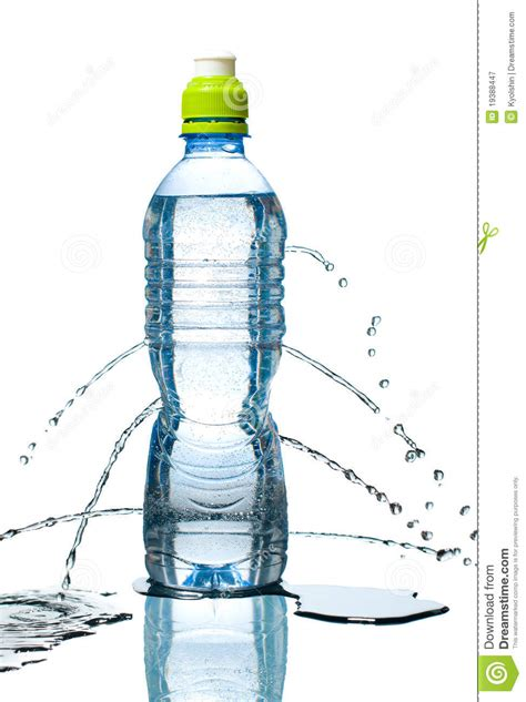 Bottle Of Water Leaking Stock Image Image Of Object