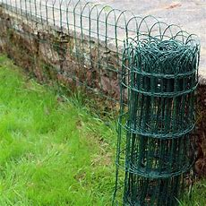 Garden Border Fence ,pvc Green Wire Mesh Edging Edge Lawn