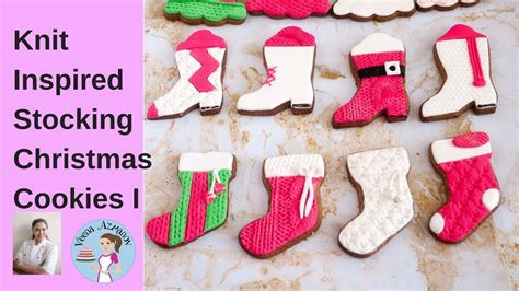 stockings christmas cookies  fondant cookie