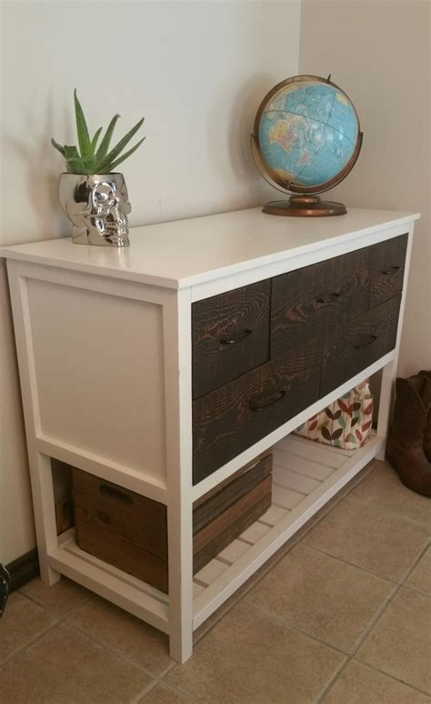 ana white reclaimed wood console table diy projects