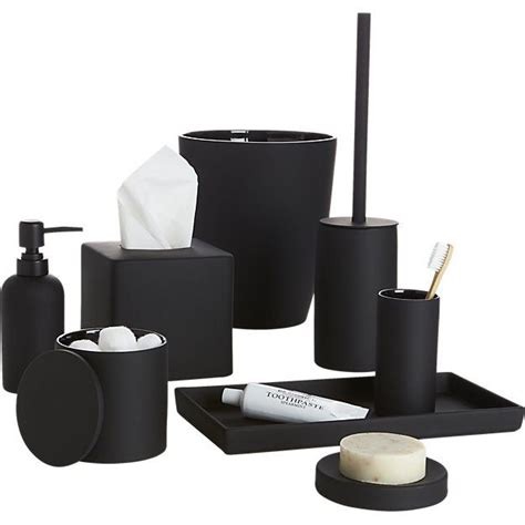 Modern Bathroom Accessories Canada by Rubber Coated Black Bath Countertop Accessories Bathroom