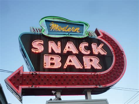 snack bar cuisine diner signs a visual journal