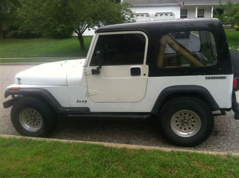 jeep wrangler white 2 door buy used 1990 jeep wrangler yj white with hard top full