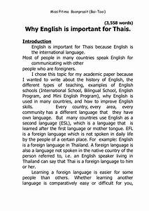 Why English is important for Thais.