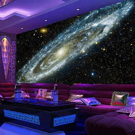 3d Galaxy Wallpaper For Ceiling by Custom Any Size 3d Wall Mural Wallpaper Galaxy Starry