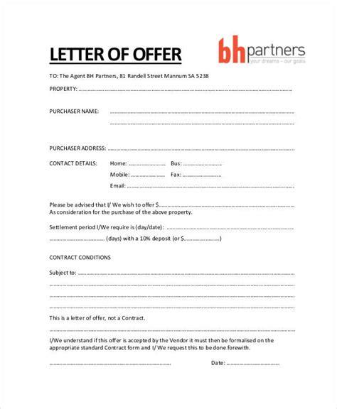 offer letter  buy  house template viskyz