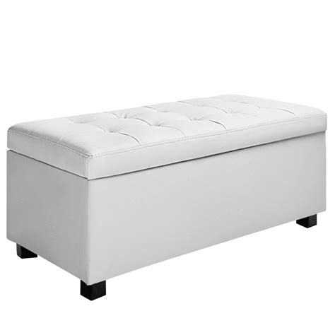 ottoman for foot of bed oz crazy mall blanket box ottoman storage pu leather foot