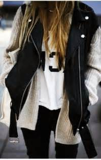 Leather Sweater Vest