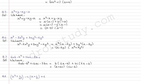 cbse class 8 maths factorisation worksheets class 10