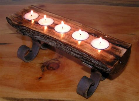 Fireplace Wood Holder Ideas by Candle Holder Wood Metal Candle Holder Wood Home Trendy