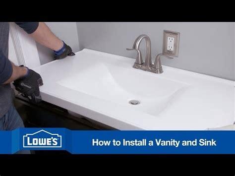 install  bathroom vanity youtube
