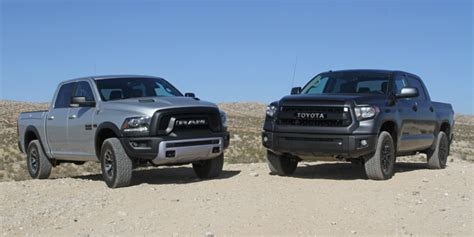 Shootout Ram 1500 Rebel Vs. Toyota Tundra Trd Pro
