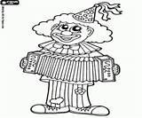 Clown Accordion Colorir Pintar Circo Desenhos Coloring Pallasso Palhaco Grać Akordeonie Tocant Jogando Acordeao Kolorowanki Cyrku Circ Playing Um Imprimir sketch template