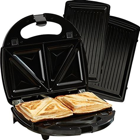 single sandwich toaster cooks professional 2 in 1 non stick sandwich maker with