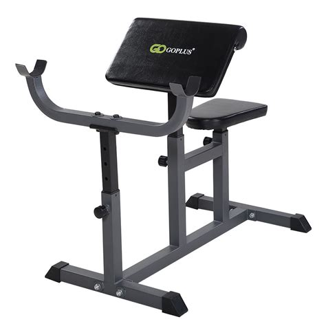Adjustable Commercial Preacher Arm Curl Weight Bench Seat