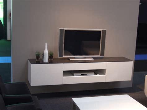 Meuble Tele Suspendu Meuble Tv Blanc Et Bois