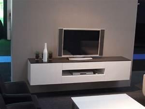 Meuble Tv Suspendu But : meuble tele suspendu meuble tv blanc et bois maison boncolac ~ Teatrodelosmanantiales.com Idées de Décoration