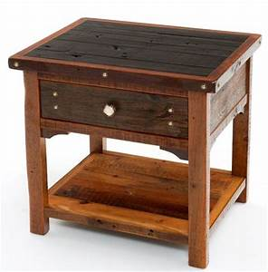 17 best ideas about barn wood tables on pinterest With barnwood bedside table