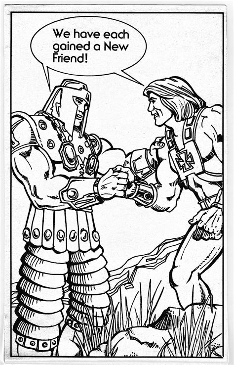 masters   universe character coloring book