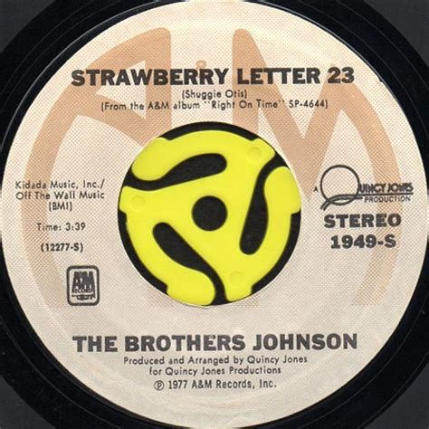 the brothers johnson strawberry letter 23 the brothers johnson strawberry letter 23 45 s 25143