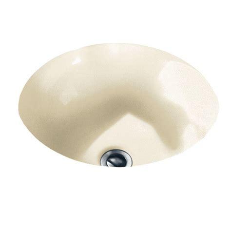 American Standard Orbit Undermount Bathroom Sink in Linen