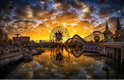 Disneyland California Sunset Theme Wheel Ferris Pier