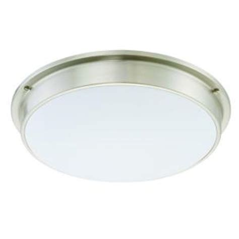 sylvania 2 light flush mount ceiling stain nickel led