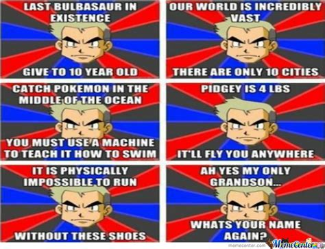 Prof Oak Memes - professor oak logic by deykin meme center