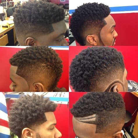 Faded Mohawk Black Men Hairstyles