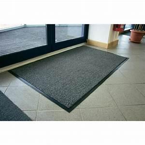 tapis d39entree anti poussieres noir gris ml x 12 coba With tapis d entrée noir