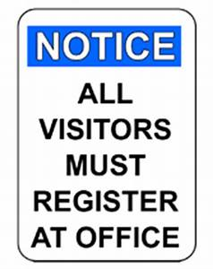 free printable all visitors must register at office With all visitors must sign in template