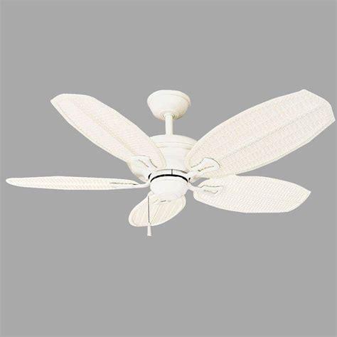 ceiling fans huntington beach hton bay palm beach ii 48 in matte white ceiling fan