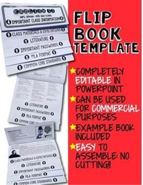 Editable Flip Book Templates Interactive Notebooks Personal And Commercial Use  Flip Books