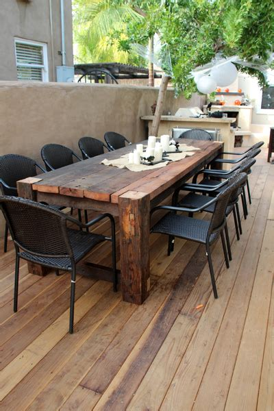 Outside Patio Table by Beautiful Wooden Table Favorite Places Spaces Diy