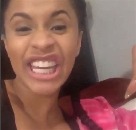 how cardi b teeth use to look cardi b shows off her new smile bossip