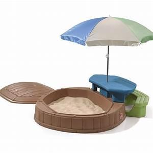sandkasten step 2 play store sandkiste mit deckel With whirlpool garten mit balkon sandkasten mit deckel