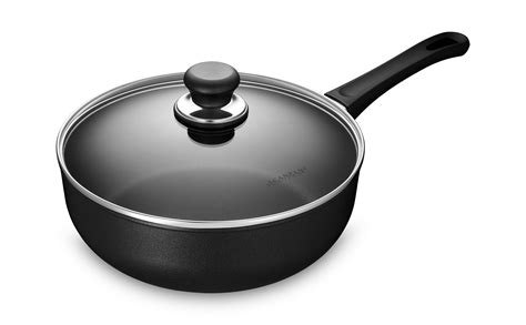 scanpan classic stratanium nonstick deep saute pan  quart cutlery