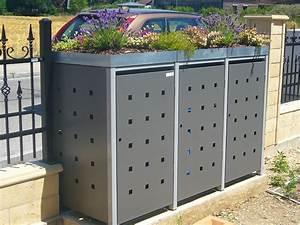 Müllbox Selber Bauen : m llbox quadra 3x 240 liter m lltonnenboxen aus metall ~ Lizthompson.info Haus und Dekorationen