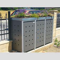 Müllbox Quadra Aus Metall 3x 240 Liter