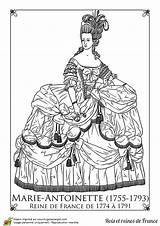 Marie Antoinette Coloring Paper Dolls Coloriage Reine France Pages Guillotine Adult Template Hugolescargot Colouring Queen Sheets Maria Sur Martin Princesse sketch template