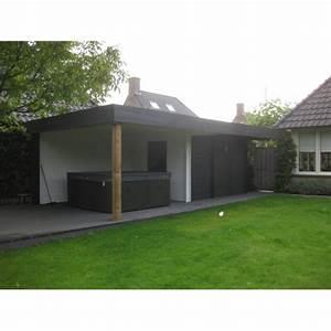 Pool House Toit Plat : mimas lounche abris pool house en bois chalet center ~ Melissatoandfro.com Idées de Décoration
