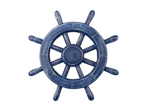 Sailboat Wheel Wall Decor by Buy Rustic All Blue Decorative Ship Wheel 12 Inch