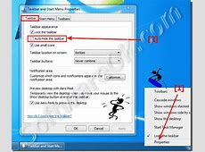 How to disable or enable the Taskbar auto hide feature in
