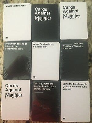 The game plays like the original cah. PRINTED CARDS AGAINST Muggles-Cards Against Humanity NSFW Harry Potter 453 Cards - $24.99 | PicClick