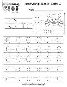 Letter C Writing Practice Worksheet