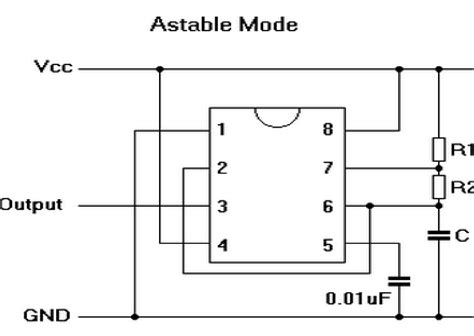 Timer Astable Mode Tutorial With Theory