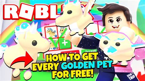 Adopt cute pets decorate your home explore the world of adopt me! How to Get Every GOLDEN PET for FREE in Adopt Me! NEW Adopt Me Golden Pets Update (Roblox ...
